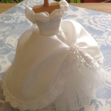 Beautiful handmade 1/12 th scale dollhouse wedding dress