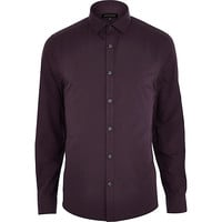 River Island MensPurple long sleeve shirt