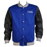 Crooks & Castles 115.00 Crooks & Castles Graphic Stadium Jacket in Cobalt