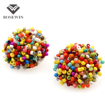 17 Color Perfect Match Bohemia Earrings 2016 Women Accessories Unique Design Jewelry Gorgeous Resin Handmade Beads Earring FE159