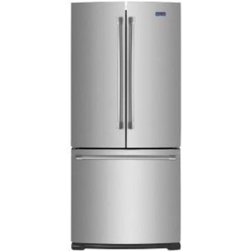 Maytag, 30 in. W 19.7 cu. ft. French Door Refrigerator in Stainless Steel, MFF2055DRM at The Home Depot - Mobile