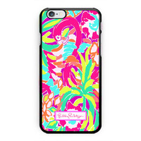 Lilly Pulitzer Pink Flamingo Hard Plastic Case For iPhone 6s 6s plus Low Price