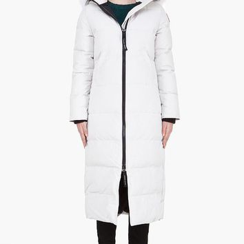 New Canada Goose White Mystique Parka Down Coat Coyote Fur Hood Women 2 Xs Xxs