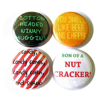 Buddy the Elf Pinback Button Set of 4 Part Two