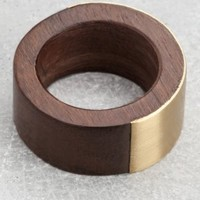 Wood ring w/ brushed metal | Gold | & Other Stories