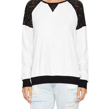 Martha Lace Jersey Sweater