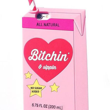 Valfre x Bitchin & Sippin Phone Case (Pink)