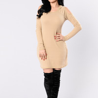 Kick Back And Relax Dress - Taupe