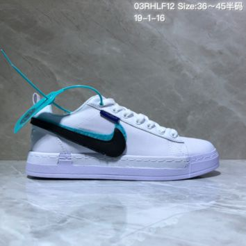 DCCK N971 Nike Lunar Force 1 Duck Boot Low Magic stick change hook recreational board shoe White
