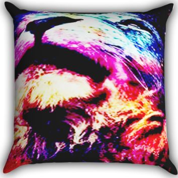 The lion Zippered Pillows  Covers 16x16, 18x18, 20x20 Inches