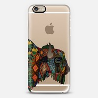 bison transparent iPhone 6s case by Sharon Turner | Casetify
