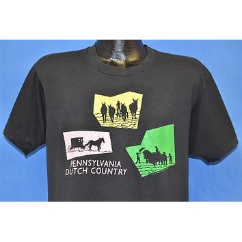 80s Pennsylvania Dutch Country Horse & Buggy t-shirt Large