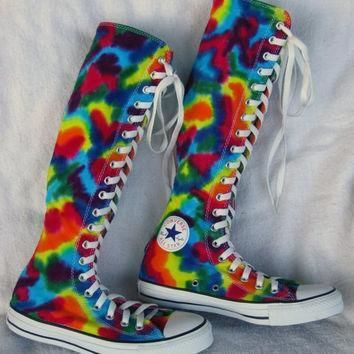 made to order xx hi tie dye converse sneakers women sz 7
