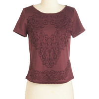 ModCloth Short Length Short Sleeves Concert Hall Charm Top