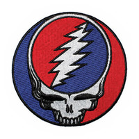 Grateful Dead Iron-On Patch Steal Your Face Circle