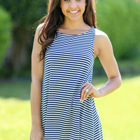 Off Duty Tank Dress - Navy