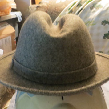 Vintage  PENDLETON PURE wool gray fedora mens hat