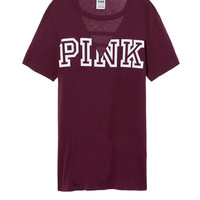 Ladder Front Campus Tee - PINK - Victoria's Secret