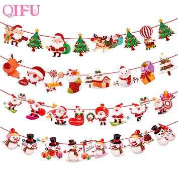 QIFU Merry Christmas Decorations For Home Xmas Tree Ornaments Christmas Ornaments Navidad Noel Garland Happy New Year 2019