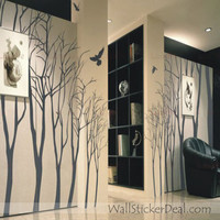 Love Forest Winter Tree Wall Stickers – WallStickerDeal.com