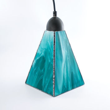Stained Glass Pendant Lighting, Custom Colors, Ceiling Fixture, Modern Design, Glass Shade, Kitchen Island Light, Hanging Lamp, Stain Glass