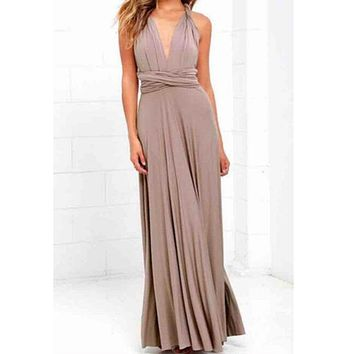 TFGS Women's New Fashion Sexy Boho Maxi Club Dress Bandage Long Dress Party Multiway Bridesmaids Convertible Infinity Robe Dre