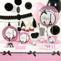 Paris Damask Deluxe Party Supplies for 16