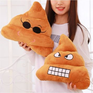 2018 Soft Bolster Emoji Poo Smiley Pillow Cushion Cotton Bedding Body Cushion Funny Pillow Tricky Toys Bolster Christmas Gifts