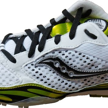 Saucony Men's Velocity Distance Track Spikes /Cross Country~ White/Green