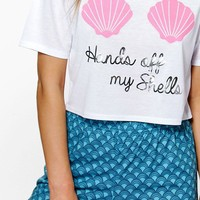 Eve Hands Off Mermaid Print Tee And Short PJ Set