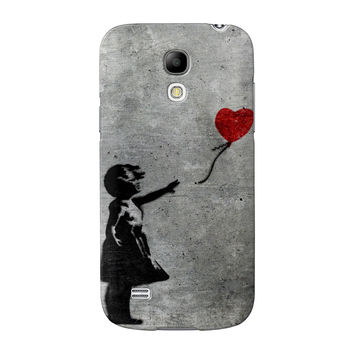 Banksy Girl with Heart Balloon Full Wrap High Quality 3D Printed Case for Samsung Galaxy S4 Mini by Banksy