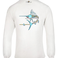 Men's Marlin Action X-Ray L/S UV Fishing T-Shirt