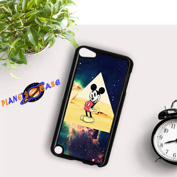 disney Mickey mouse Hipster Triangle Galaxy iPod Touch 6 Case Planetscase.com