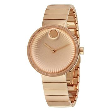 Movado Edge Rose Gold Ion-plated Stainless Steel Ladies Watch 3680013