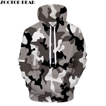 Camo 3DPrint Hoodies Mens Womens Sweatshirts Casual Tracksuits