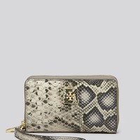 Tory Burch iPhone 5/5s Wristlet - Clara Snake-Embossed
