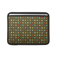 Modern Brown Polka Dots Graphic Retro Design MacBook Sleeves from Zazzle.com