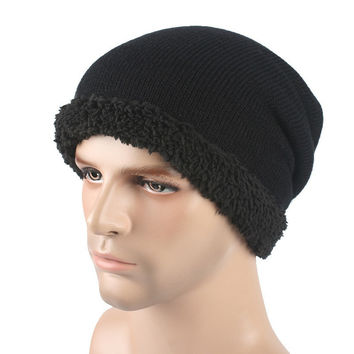 Brand Beanies Knitted Warm Hat Skullies Bonnet Hats For Men Women Beanie Fur Baggy Wool Caps SM6