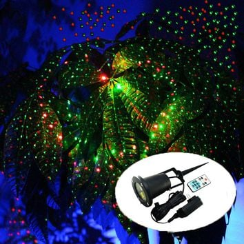 Outdoor Moving Full Sky Star Laser Projector Landscape Shower Lamp Blue&Green LED Stage Light Outdoor Lawn Garden Light