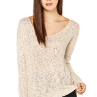 Off the Shoulder Sweater in Taupe