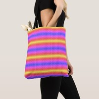 Colorful patterns tote bag