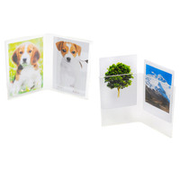 Double Photo Frame Polaroid Fujifilm Instax Mini Film Holder Transparent