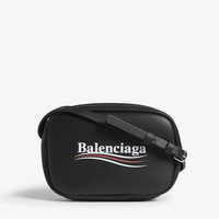 BALENCIAGA Everyday logo leather camera bag