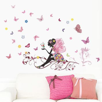 Butterfly Fairy Vinyl Wall Decal Stickers