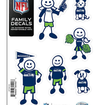 Seattle Seahawks Decal 5x7 Family Sheet