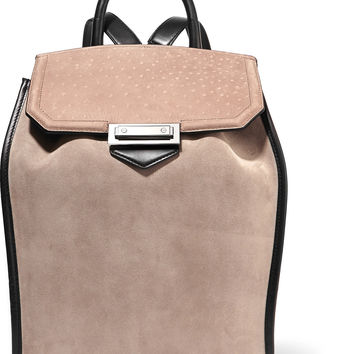 Prisma paneled suede backpack | Alexander Wang | US | THE OUTNET