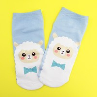 Sheep Blue Socks