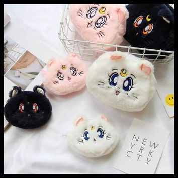 Cat Shaped Travel Cosmetic Bag Make Up