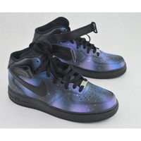 Hand Painted Galaxy Nike Air Force 1 | Zazzle