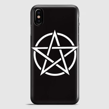 Pentagram Symbol Goth Metal Wiccan Magic iPhone X Case